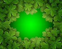 Background of the four-leaf clover. Vector art illustration Stock Photo