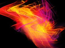 Background fractal, fire, abstraction Stock Images