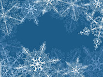 Background with fragile snowflakes Stock Photo