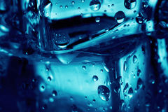 Background of a fragment ice cubes Stock Photo