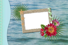 Background with frame Stock Image