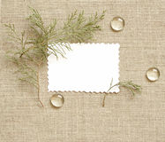 Background with frame. Canvas background with frame for text or photo Stock Photography