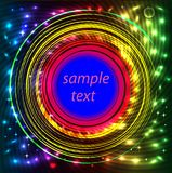 Background frame abstract bright neon with rotation. Illustration background frame abstract bright neon with rotation Stock Image