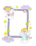 Background - frame with angels Stock Photo