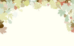 Background with frame with Autumn Leafs. EPS 8 Stock Photography