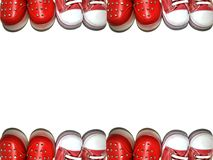 Background frame of baby shoes royalty free stock images