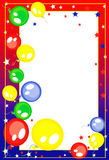 Background- frame with balloons Stock Images