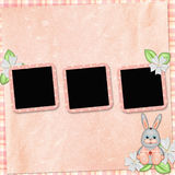 Background with frame and bunny Stock Photo