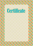 Background frame certificate Stock Photos