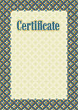 Background frame certificate Stock Images