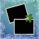 Background with frame and embellishment. In scrapbooking style Royalty Free Stock Image
