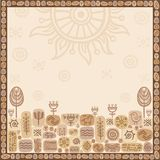 Background a frame with an ethnic ornament Royalty Free Stock Photography