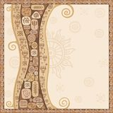 Background a frame with an ethnic ornament Stock Images