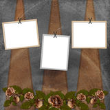 Background with frame and flowers Royalty Free Stock Photo
