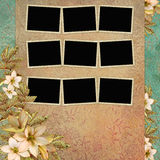 Background with frame and flowers Royalty Free Stock Image