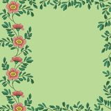 Background, frame of flowers Stock Images