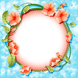 Background frame with flowers in circle Stock Photos