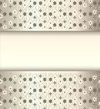 Background frame with flowers of silk with metal l Stock Images