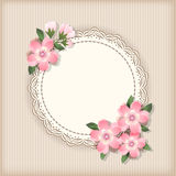 Background  with frame and flowers. Stock Image