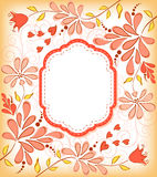 Background  with frame and flowers. Stock Images