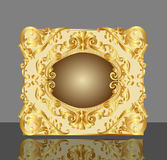 Background frame with gold(en) Royalty Free Stock Photography
