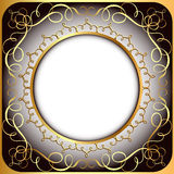 Background frame with gold(en) circular pattern Stock Images