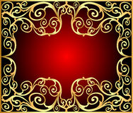 Background frame with gold(en) old pattern Royalty Free Stock Photo