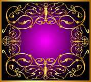 background frame and  gold(en) pattern Royalty Free Stock Images