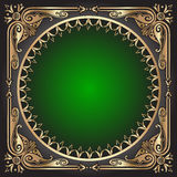 background with frame with gold(en) pattern Stock Photography