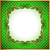 A background a frame with a gold ornament Royalty Free Stock Photos