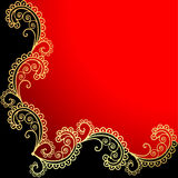Background with the frame with gold ornamentation Royalty Free Stock Images