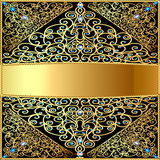Background a frame about gold a pattern and diamon Stock Images