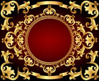 Background frame with gold with vintage ornament Royalty Free Stock Photos