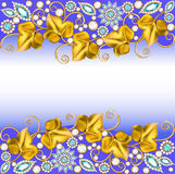 Background frame with jewels of ornaments. Illustration background frame with jewels of ornaments stock illustration
