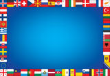 Background with frame made of flags Stock Images