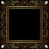 Background frame ornaments and precious stones Stock Photo