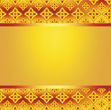 Background frame pattern line thai fire. Gold floral background frame pattern line thai fire and text frame Stock Images