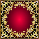 Background frame with pearl and gold(en) pattern Stock Images