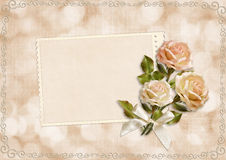 Greeting card with roses Royalty Free Stock Image