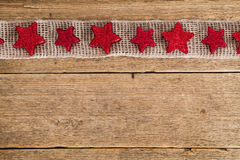 Background with frame of red stars Royalty Free Stock Photo