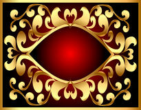 Background with frame and royal gold(en) pattern Stock Photography