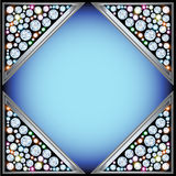 Background frame with triangles with precious stones Stock Photos