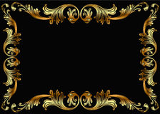 Background frame with vegetable gold(en) pattern Stock Image