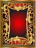 Background frame with vegetable gold(en) pattern stock illustration