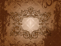 Background with a frame in the Victorian style Royalty Free Stock Photography