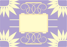 Background - frame violet and yellow stock photo
