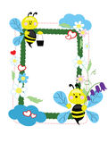 Background - Frame With Bees Stock Photo
