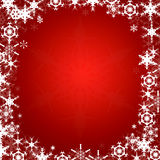 Background Framed With Snowflakes Royalty Free Stock Photos