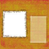 Background with frames. Golden orange background with frames for text and photo Stock Photo