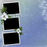 Background with frames and christmas star Stock Image